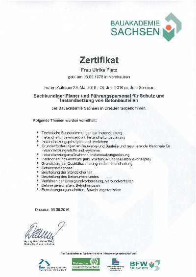 Behr Ingenieure GmbH :: Zertifizierung zu \
